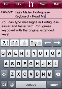 Easy Mailer Portuguese Keyboard